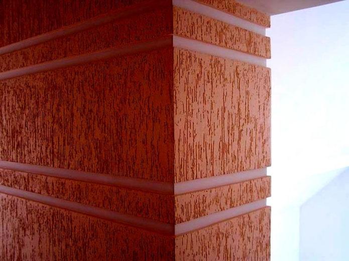 scolyte du plâtre en décoration