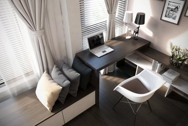 Système de mobilier intégré pour le rangement, le travail et les loisirs