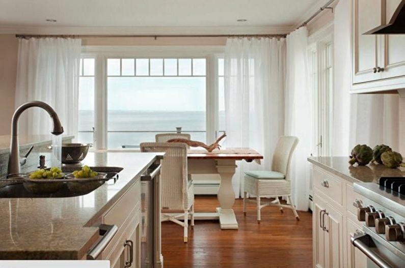 Tulle pour la cuisine - Longueur et configuration