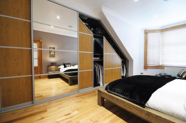 Armoire encastrée spécialement conçue pour la chambre mansardée