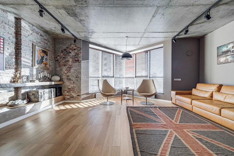 Conception de salon de style loft - Caractéristiques