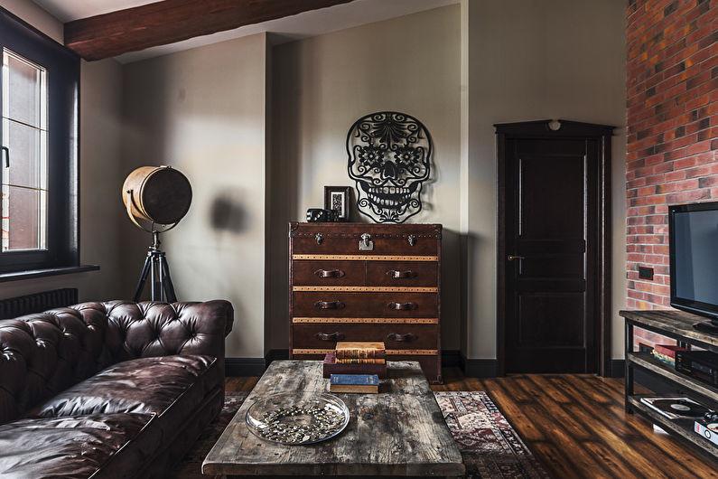 Aménagement de salon style loft - Déco et textiles