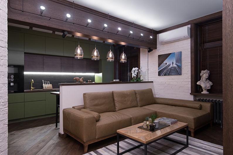 Conception de salon de style loft - Meubles