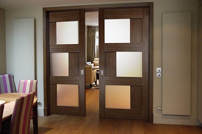 Types de portes coulissantes intérieures par type de mouvement - Cassette