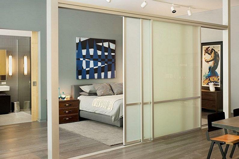 Types de portes coulissantes intérieures par type de mouvement - Standard