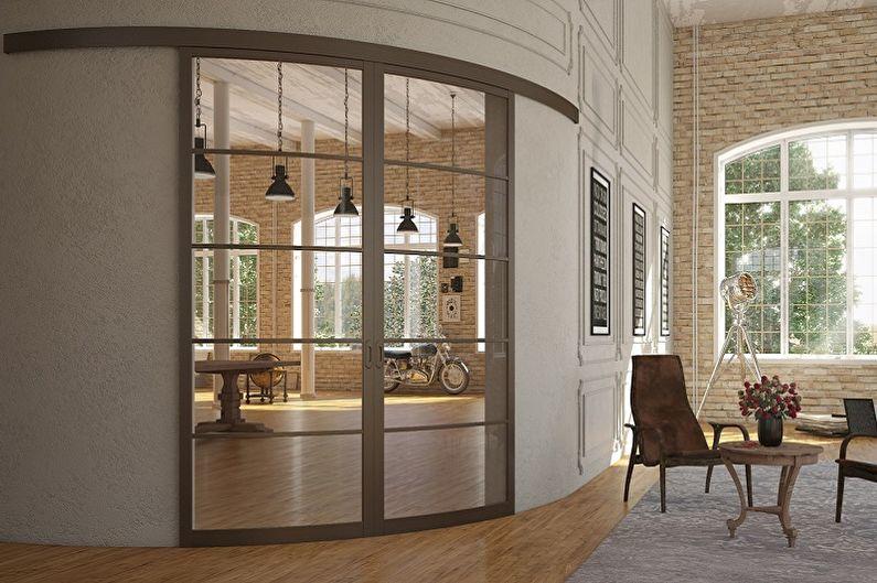 Types de portes coulissantes intérieures par type de mouvement - Radial