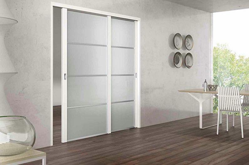 Types de portes coulissantes intérieures par type de mouvement - Ouverture