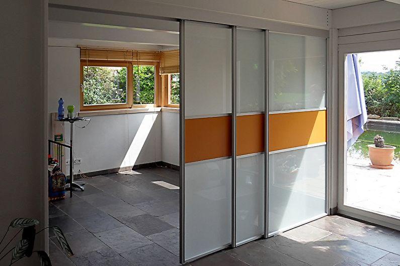 Types de portes de compartiments intérieurs par type de mouvement - Cascade
