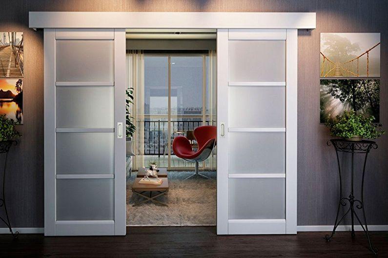 Portes coulissantes intérieures - Caractéristiques