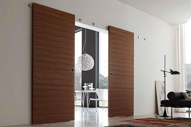 Types de matériaux pour portes coulissantes intérieures - MDF