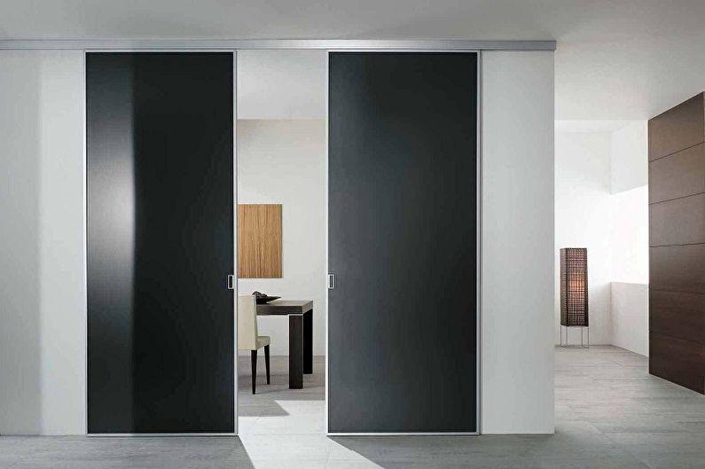 Types de matériaux des portes coulissantes intérieures - Métal