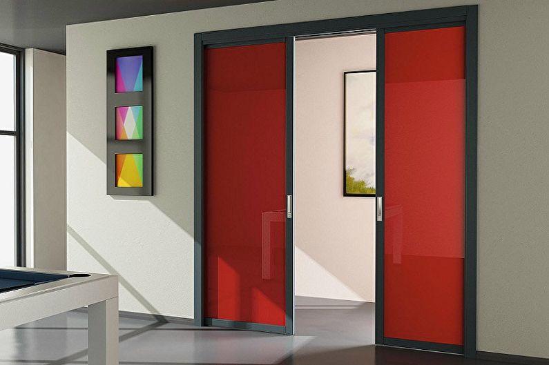 Types de matériaux pour portes coulissantes intérieures - Plastique