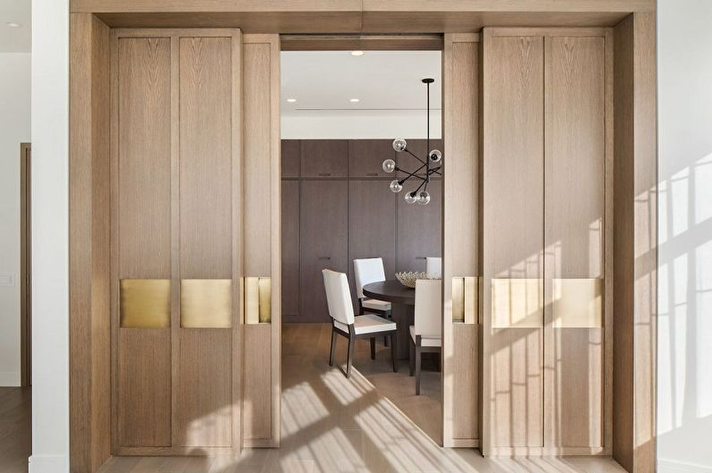 Types de matériaux pour portes coulissantes intérieures - Bois