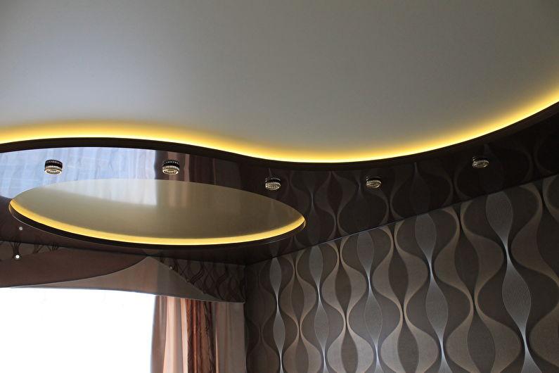 Plafond tendu à deux niveaux rétroéclairé - Bande LED