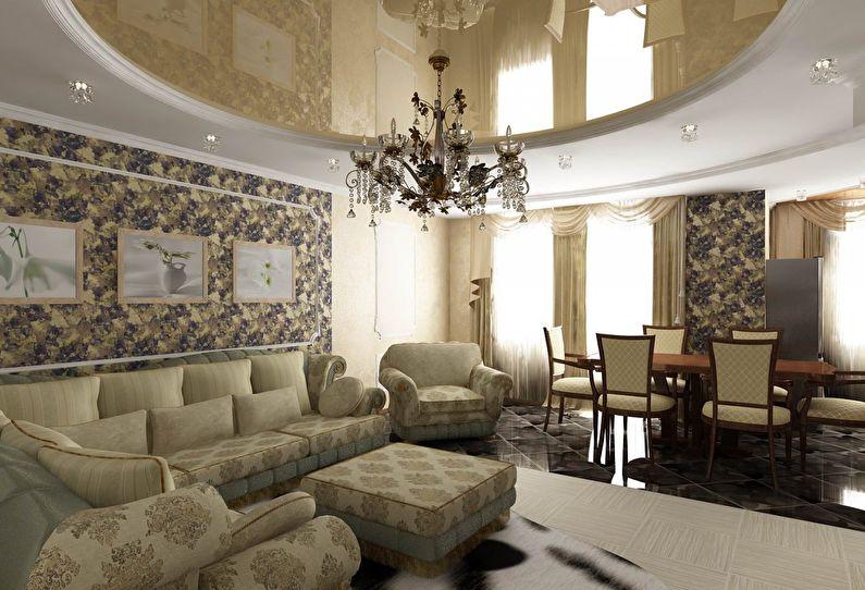 Plafonds tendus à deux niveaux dans le hall