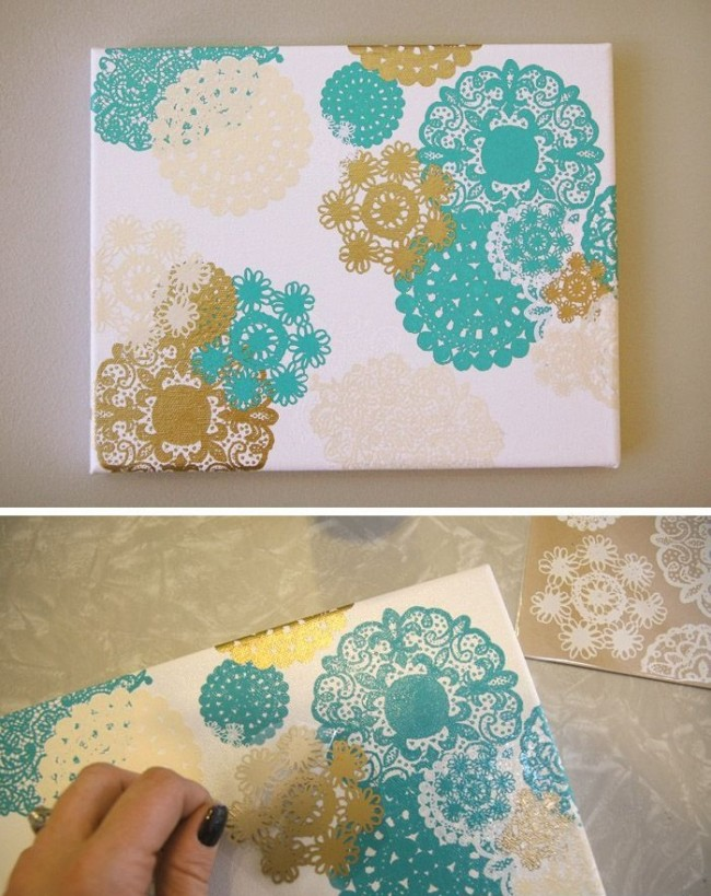 Une excellente solution peut être des serviettes en papier ajourées.