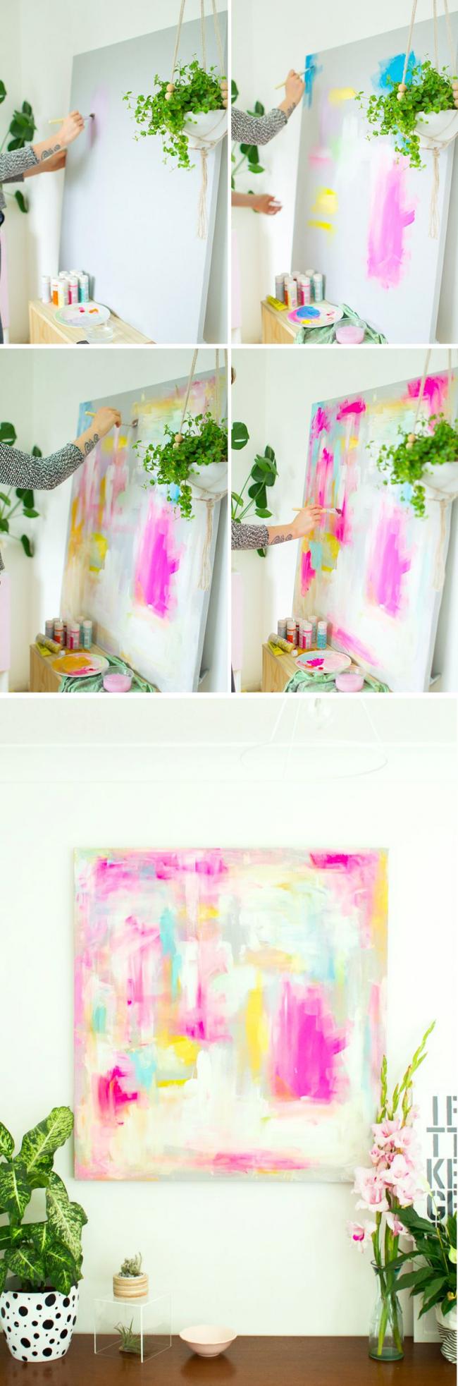 Technique pour créer une peinture abstraite à l'aide de peintures