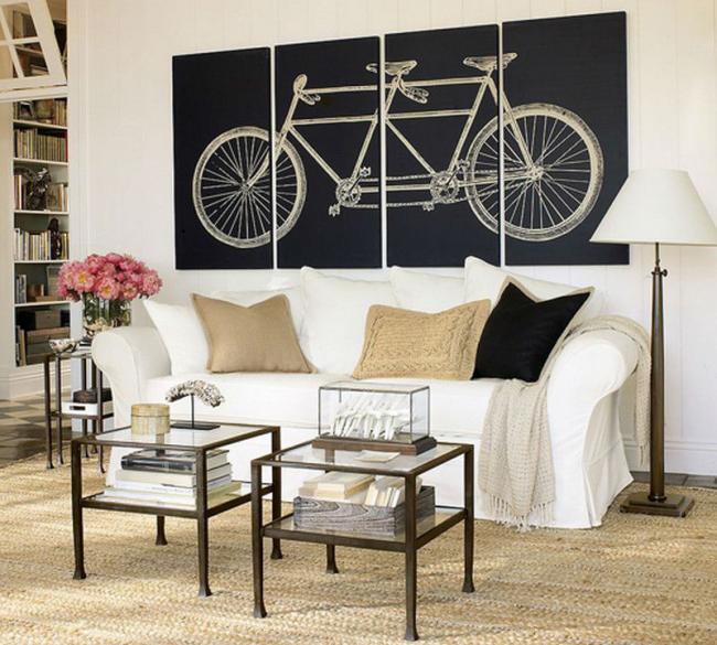 Une image subtilement jouée d'un vélo
