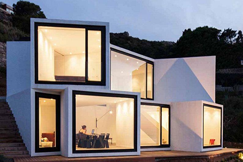 Maisons high-tech - High-tech à l'architecture géométrique