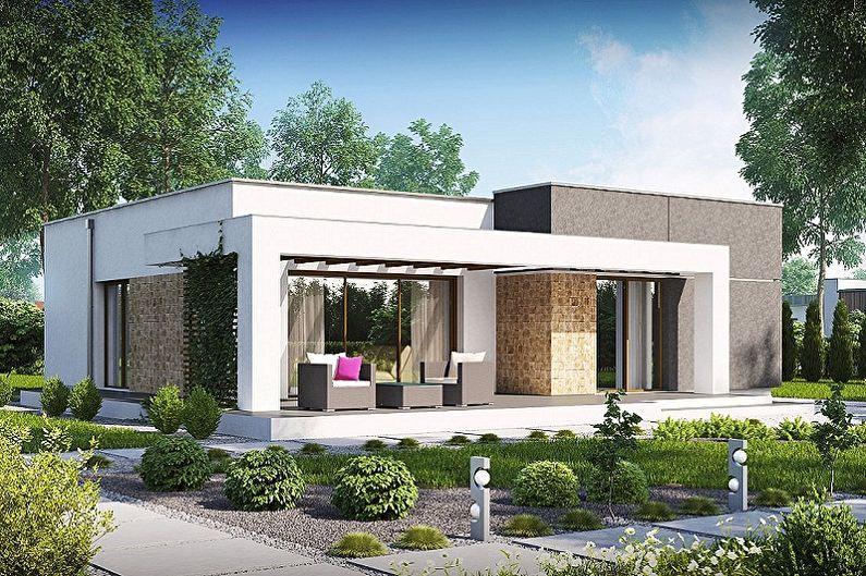 Projets de maisons modernes de haute technologie - Petite maison à un étage