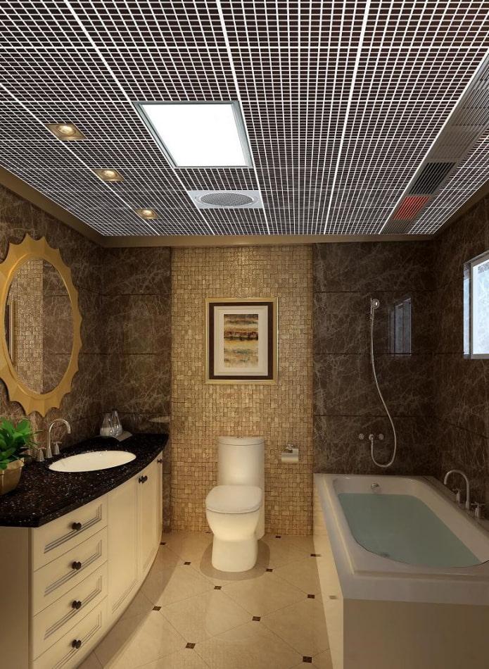 plafond grilyato dans la salle de bain
