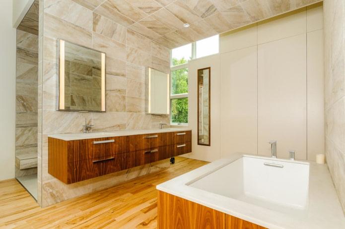 carreaux de céramique à l'intérieur de la salle de bain