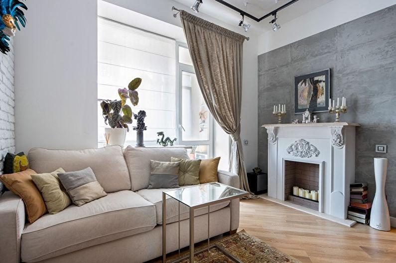 Design d'intérieur d'un appartement de style loft, Moscou - photo