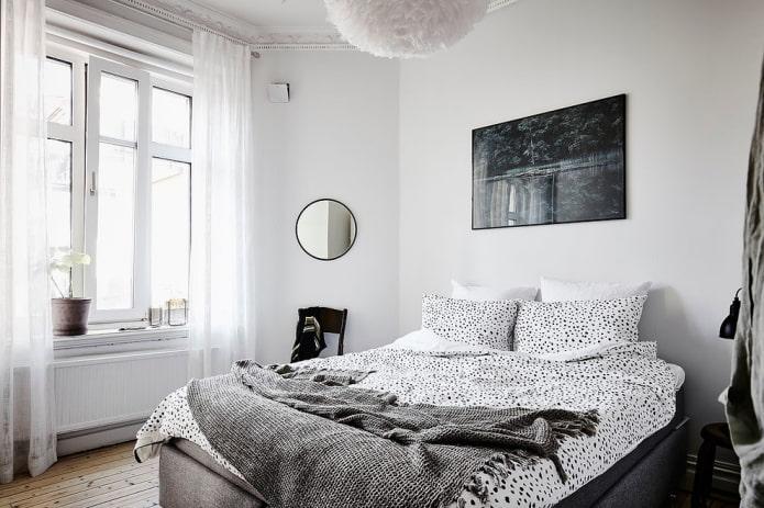 conception de chambre dans un style nordique