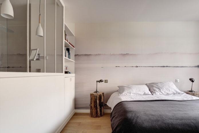 décoration murale dans la chambre dans un style nordique