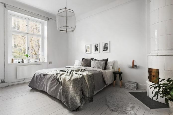 schéma de couleurs de la chambre dans un style nordique