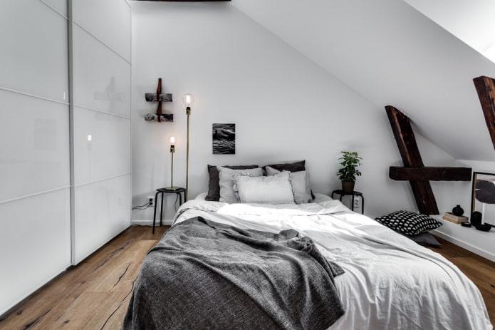 meubles dans la chambre de style scandinave