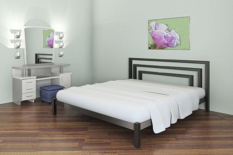 Types de lits en fer forgé dans différents styles - Hi-tech