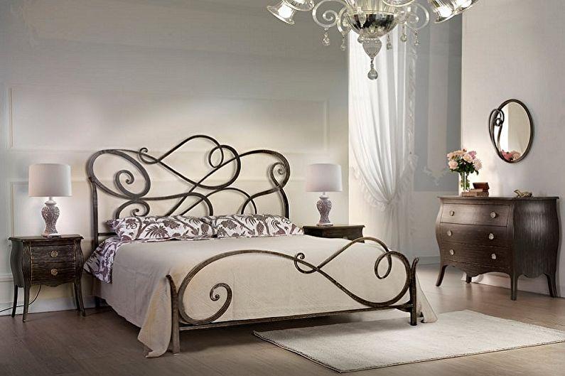 Types de lits en fer forgé dans différents styles - Moderne