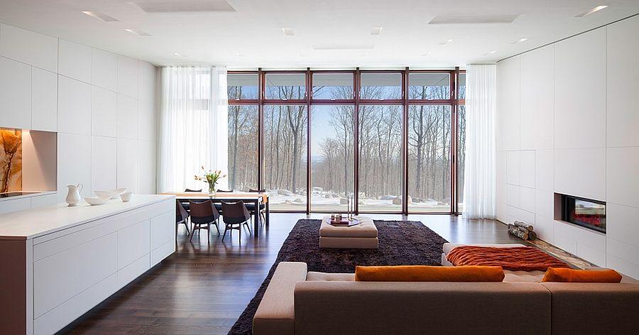 Salon minimaliste spacieux