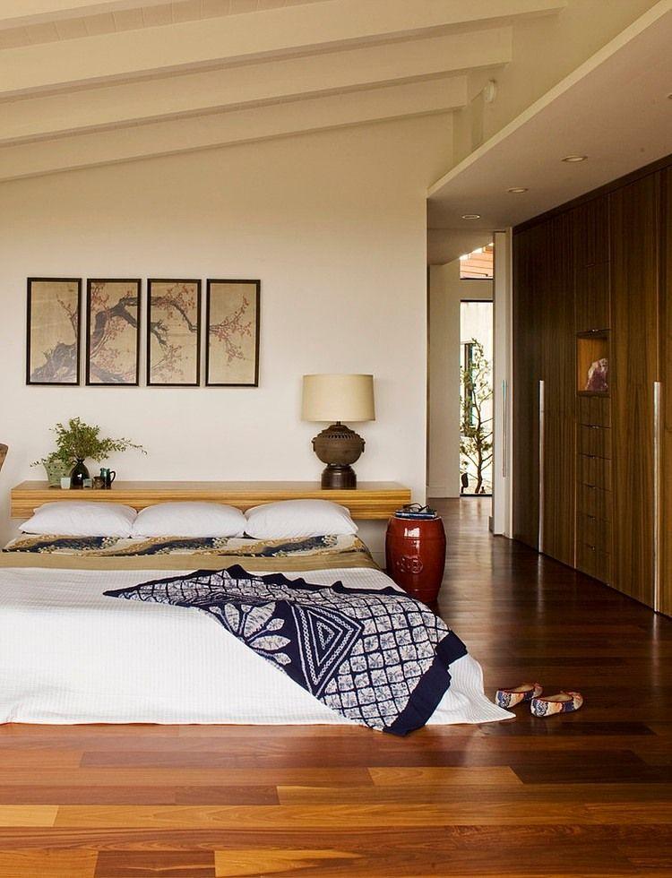 Chambre dans le style du minimalisme japonais