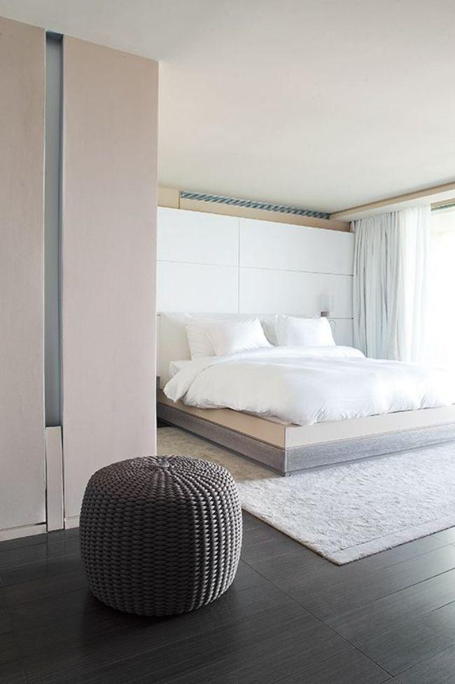 Chambre minimaliste moderne