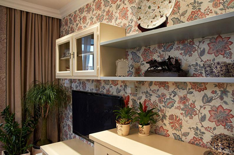 Papier peint pour le salon dans le style provençal