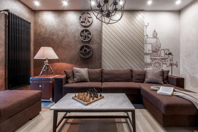Déco salon style loft