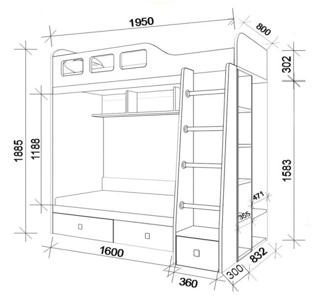 Disposition des lits superposés