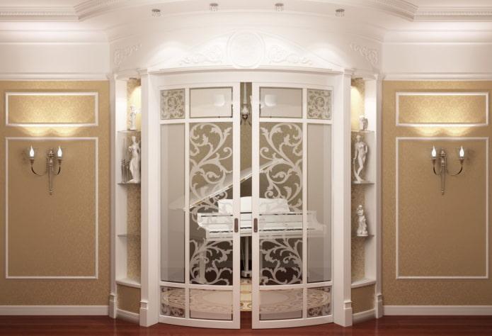 portes de compartiment de rayon à l'intérieur