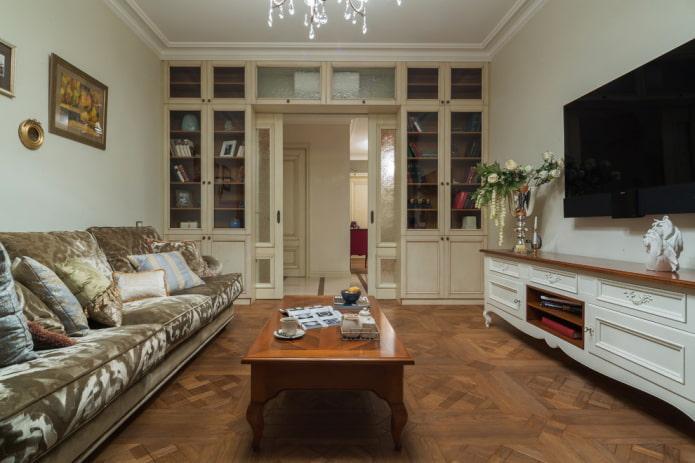 portes de compartiment beiges à l'intérieur