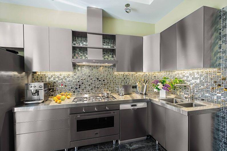 Cuisine grise dans un style moderne - Design d'intérieur
