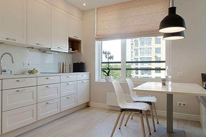 Cuisine blanche dans un style moderne - Design d'intérieur
