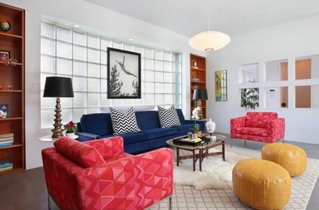 Salon confortable dans un style moderne