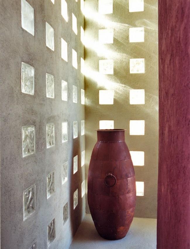Utiliser des blocs de verre pour la décoration murale