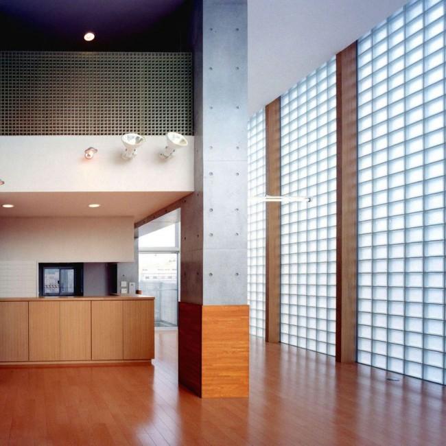 Blocs de verre à l'intérieur du style Art Nouveau