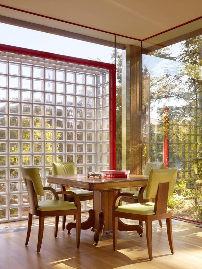 Fenêtres panoramiques en blocs de verre