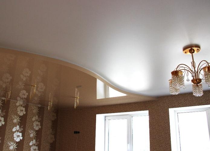 structure de tension à deux niveaux blanc-beige