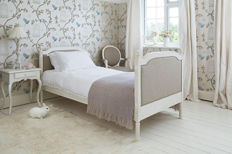 Conception de chambre beige de style provençal