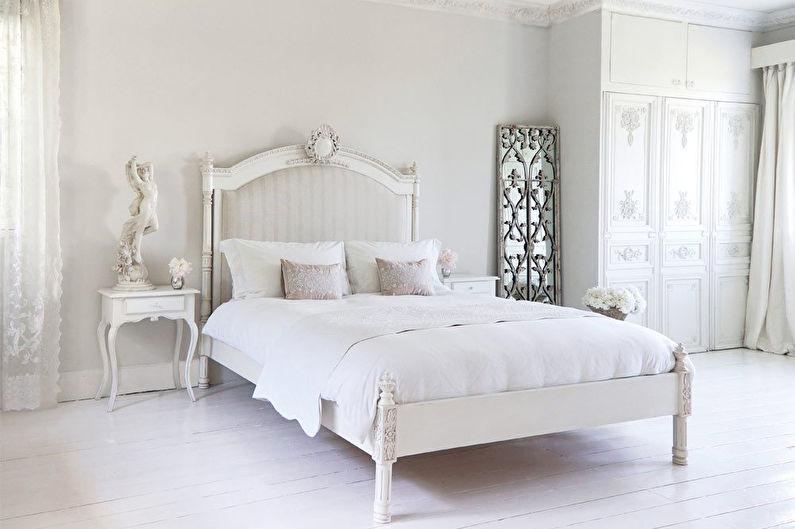 Conception de chambre blanche de style provençal